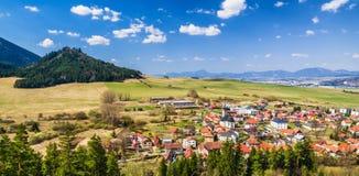 Villaggio Liptovsky gennaio in Slovacchia Fotografie Stock Libere da Diritti