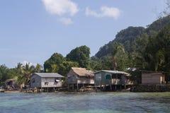 Villaggio locale su Solomon Islands Fotografia Stock