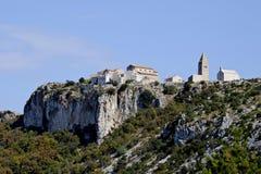 Villaggio Lubenice su islend Cres Immagine Stock Libera da Diritti