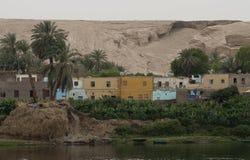 Villaggio lungo Nilo, Egitto Fotografia Stock Libera da Diritti