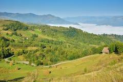 Villaggio magico di Transylvanian - Dumesti - Romania Fotografia Stock