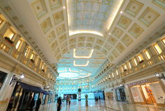 Villaggio Mall in Doha. The capital city of Qatar, is a world class shopping destination surrounded by charming Venetian-styled interiors Stock Image