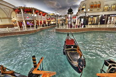 Villaggio Mall in Doha. The capital city of Qatar, is a world class shopping destination surrounded by charming Venetian-styled interiors Royalty Free Stock Image