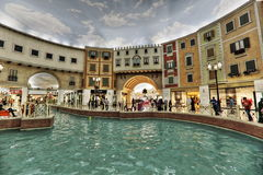 Villaggio Mall in Doha. The capital city of Qatar, is a world class shopping destination surrounded by charming Venetian-styled interiors Stock Photography
