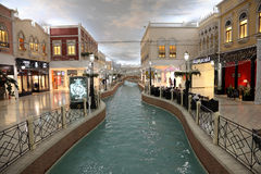 Villaggio Mall Shopping in Doha Stock Photos
