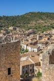 Villaggio medievale Alquezar in Pirenei spagnoli Fotografia Stock Libera da Diritti
