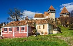 Villaggio medievale di Alma Vii, la Transilvania, Romania Fotografie Stock