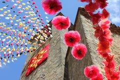 Villaggio medievale di Belves Fotografia Stock