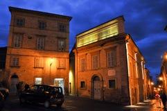 Villaggio medievale di Mogliano in Italia centrale immagine stock