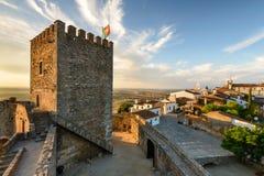 Villaggio medievale di Monsaraz nell'Alentejo, Portogallo Immagini Stock Libere da Diritti