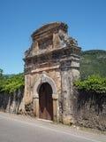 Villaggio medievale di Sermoneta in Italia Fotografia Stock