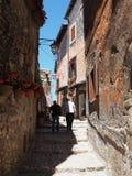 Villaggio medievale di Sermoneta in Italia immagine stock libera da diritti