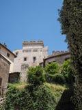 Villaggio medievale di Sermoneta in Italia Fotografia Stock Libera da Diritti