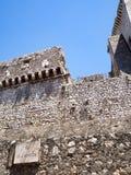 Villaggio medievale di Sermoneta in Italia Immagine Stock