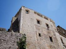 Villaggio medievale di Sermoneta in Italia Fotografie Stock Libere da Diritti