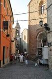 Villaggio medievale di Staffolo in Italia centrale fotografie stock libere da diritti