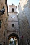 Villaggio medievale di Staffolo in Italia centrale immagini stock