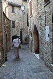Villaggio medievale di Staffolo in Italia centrale fotografia stock libera da diritti