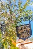 Villaggio medievale pittoresco di Eze nel sud della Francia Fotografia Stock Libera da Diritti