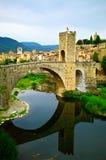 Villaggio medioevale di Besalu Fotografia Stock Libera da Diritti