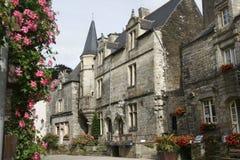 Villaggio medioevale francese Fotografia Stock Libera da Diritti