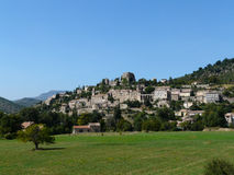 Villaggio medioevale francese Fotografie Stock Libere da Diritti