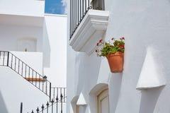 Villaggio Mediterraneo bianco Spagna di Mojacar Almeria Fotografia Stock