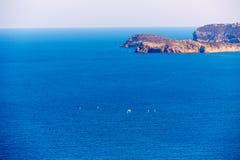 Villaggio Mediterraneo di Xabia Javea in Alicante Fotografia Stock