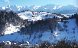 Villaggio in montagna Fotografia Stock Libera da Diritti
