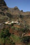 Villaggio in montagne del Capo Verde Fotografie Stock Libere da Diritti