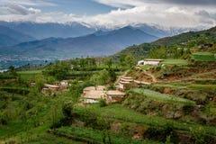 Villaggio in montagne, schiaffo Immagini Stock