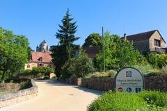 Villaggio Montfort in francese la Dordogna Immagini Stock
