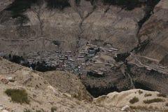 Villaggio nascosto in Himalaya Fotografie Stock