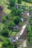 Villaggio nascosto in legno Fotografia Stock Libera da Diritti