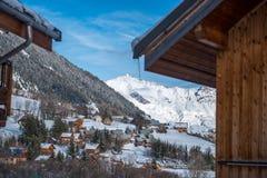 Villaggio nei mountaines Fotografia Stock