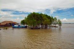 Villaggio nel Bangladesh fotografia stock