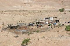 Villaggio nel deserto della Giudea immagini stock