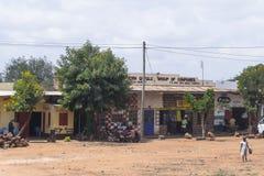 Villaggio nel Kenia Fotografia Stock