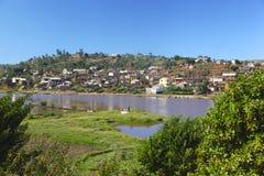 Villaggio nel Madagascar Fotografie Stock
