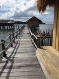 Villaggio nel mare Fotografia Stock