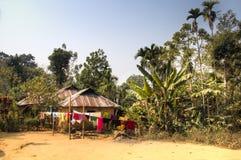 Villaggio nel parco nazionale di Lawacharra in Srimangal, Bangladesh Fotografie Stock