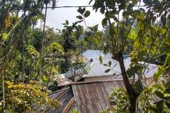 Villaggio nel parco nazionale di Lawacharra in Srimangal, Bangladesh Fotografia Stock Libera da Diritti