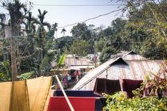 Villaggio nel parco nazionale di Lawacharra in Srimangal, Bangladesh Fotografie Stock Libere da Diritti
