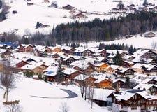 Villaggio nel suisse Fotografia Stock Libera da Diritti