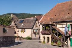 Villaggio nell'Alsazia Immagini Stock