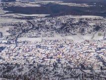 Villaggio nell'inverno Fotografie Stock Libere da Diritti