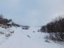 Villaggio nella neve Fotografia Stock Libera da Diritti