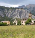Villaggio nelle alpi francesi Immagini Stock Libere da Diritti