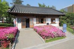 Villaggio nelle gente di Seoul in Corea del Sud Fotografie Stock Libere da Diritti
