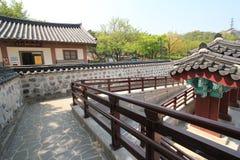 Villaggio nelle gente di Seoul in Corea del Sud Immagini Stock Libere da Diritti